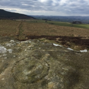 Cup and ring marks near Lordenshaws hill fort, Northumberland